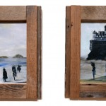 A blue diptych of the California ocean landscape, by Sarah Zar