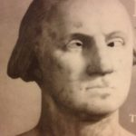 ~ An American marble bust of a cross-eyed George Washington.