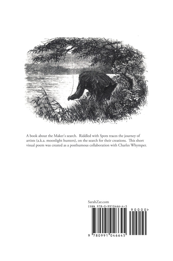 Riddled with Spots, back book cover image, by S. Zar & Whymper